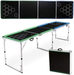 8FT Portable Flip Cup Table