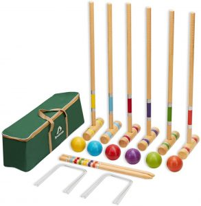 ApudArmis Six Player Croquet Set