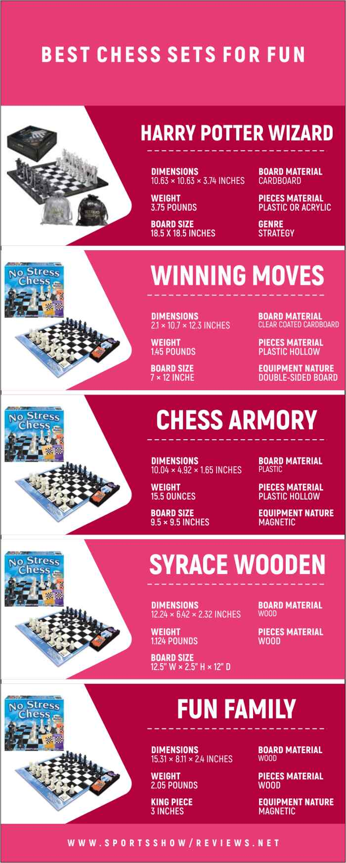 Best Chess Sets For Fun   Infographics