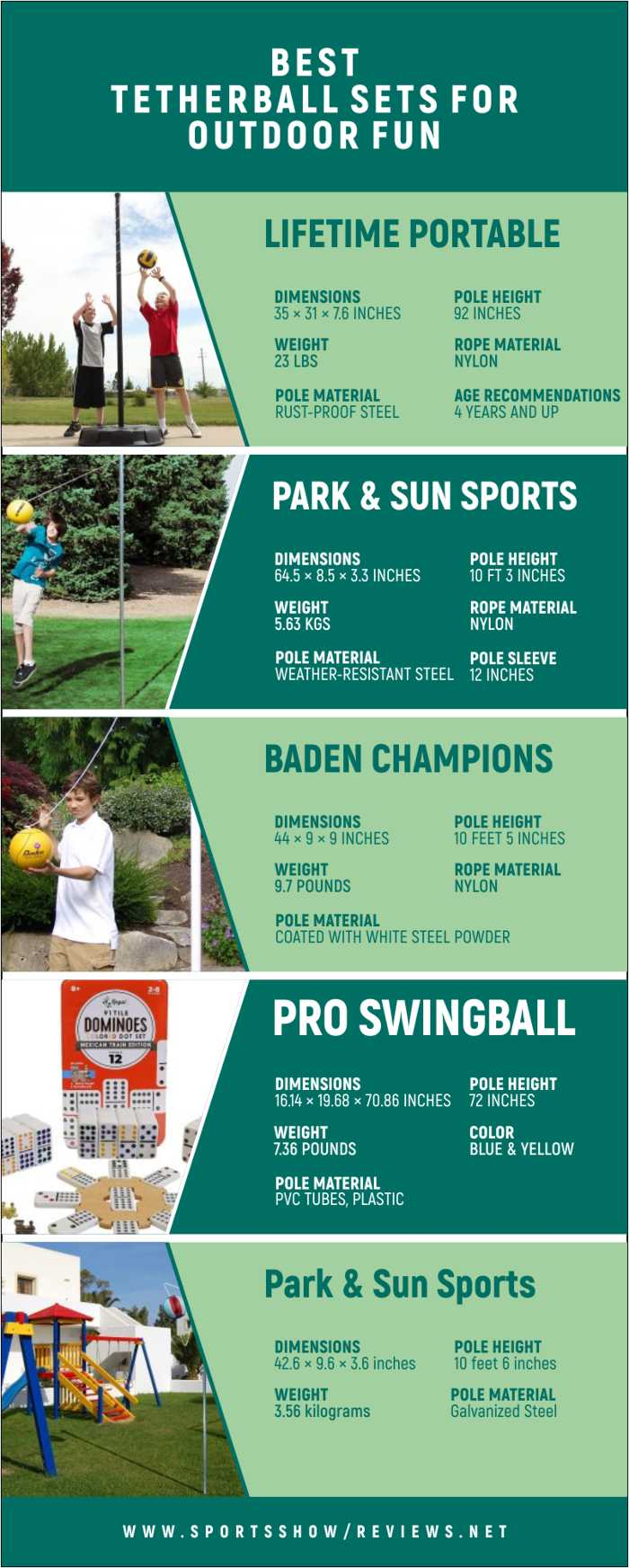 Best Tetherball Sets | Infographics