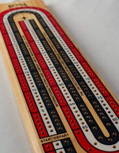 Color-Coded Cribbage Board Game by Bicycle