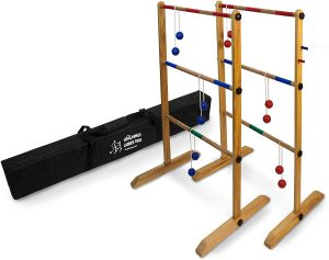 Double Wooden Ladder Ball Game