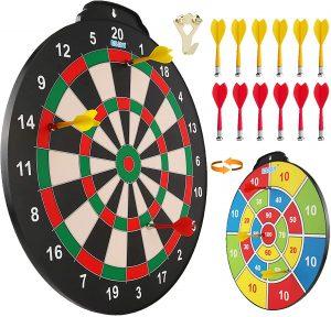 Esjay 18-Inch Magnetic Dart Board Set