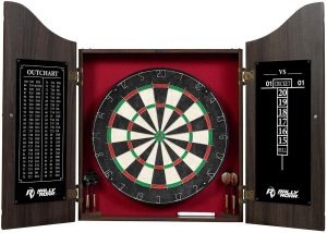 Rally and Roar Dartboard with Cabinet