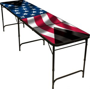 Red Cup Pong American Flag Table