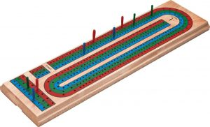 Traditional Cribbage Board game by Mainstreet