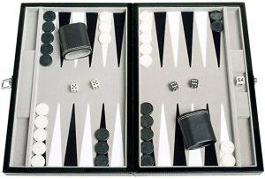 Travel Size Leatherette Backgammon Set