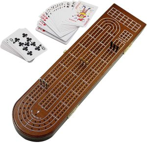 Wood Cribbage 3 Track Board by Juegoal