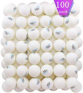 MAPOL 100 Pack White 3-Star Table Tennis Balls