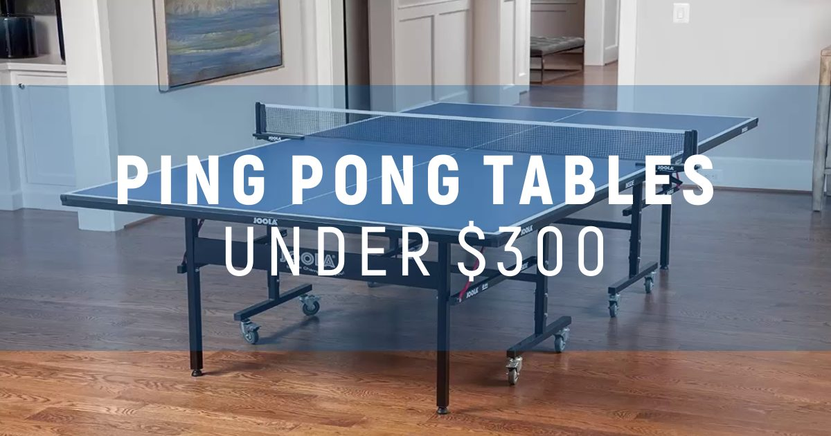 Best Ping Pong Tables Under $300 To Try This Year