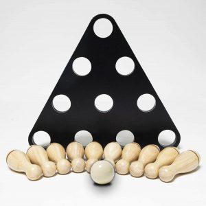 Shuffleboard Wooden Bowling Pin Set