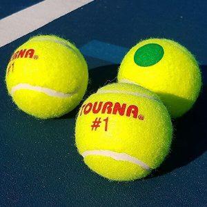 Tourna Green Dot Low Compression Tennis Balls