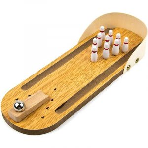 Toysery Wooden Mini Bowling Game