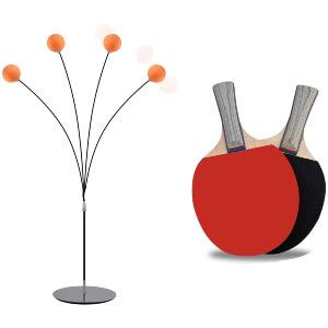 LYM Ping Pong Balls Paddles Set