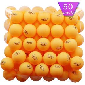 MAPOL 50- Pack Orange 3-Star Premium Ping Pong Balls