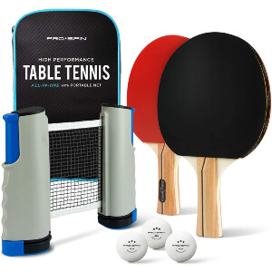 PRO SPIN Play Anywhere Portable Ping Pong Set