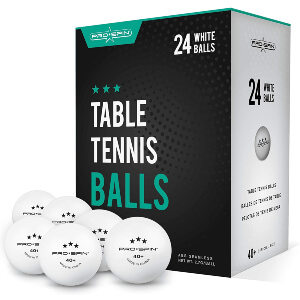 PRO SPIN White 3-Star 40+ Table Tennis Balls