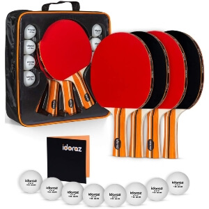 Ping Pong Paddle Set of 4 By Idoraz Store