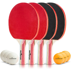 Table Tennis Ping Pong Set - Pack of 4
