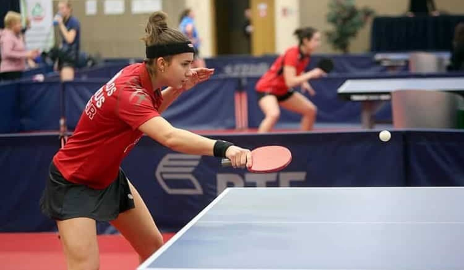 Various types of table tennis spins