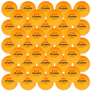 XCLOHAS 2.8g D40+mm 3 Star ABS Plastic Ping Pong Ball