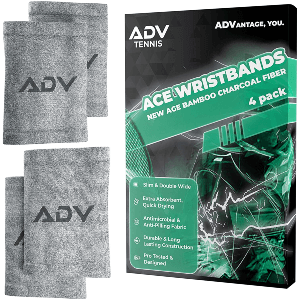 ADV Tennis Bamboo Charcoal Ace Wristbands
